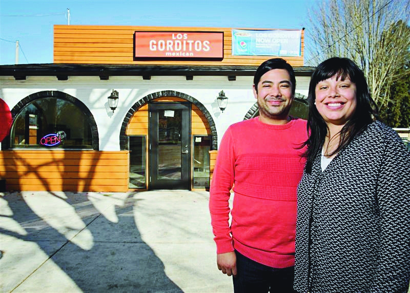 Alicia Migano, right, operates a string of Los Gorditos restaurants, offering Mexican fare with a vegan twist, with her brother, Javier Cruz, and her parents. PMG Photo: Jaime Valdez